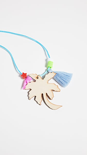 Gift Boutique Kid's Gunner & Lux Palm Trees Necklace