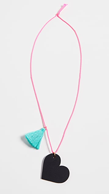 Gift Boutique Kid's Gunner & Lux Chalk Board Hearts Necklace