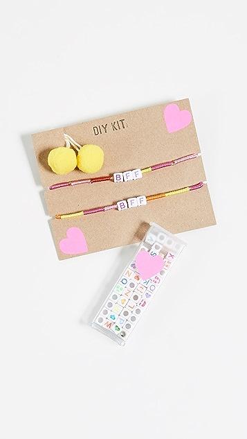 Gift Boutique Kid's BFF & Pom Pom Bracelet Kit