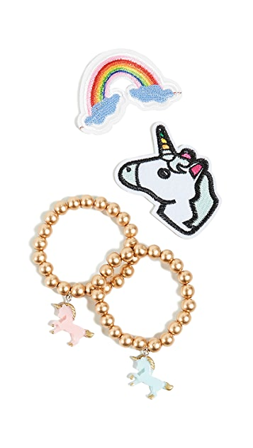 Gift Boutique Kid's 2 Unicorn Bracelets with Patches