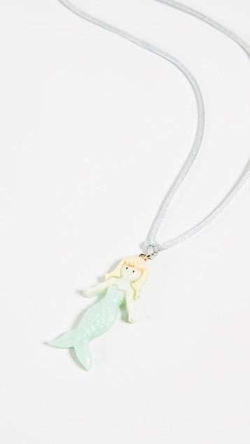 Gift Boutique Kid's Aqua Mermaid Necklace