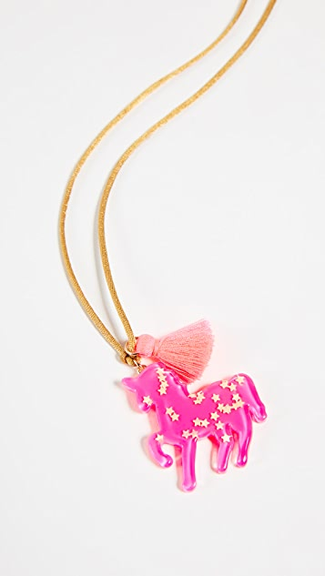 Gift Boutique Kid's Hot Pink Unicorn Necklace