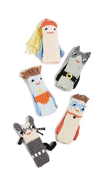 Gift Boutique Kid's Blabla Super Hero Finger Puppets - Set of 5