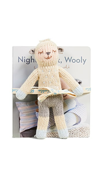 Gift Boutique Kid's Blabla Book & Rattle Wooly Set