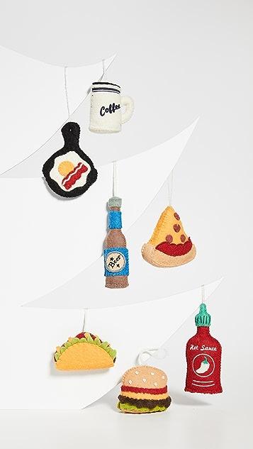 Gift Boutique Выполненные вручную орнаменты Foodie