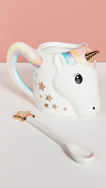 Gift Boutique Unicorn Mug with Star Stirrer