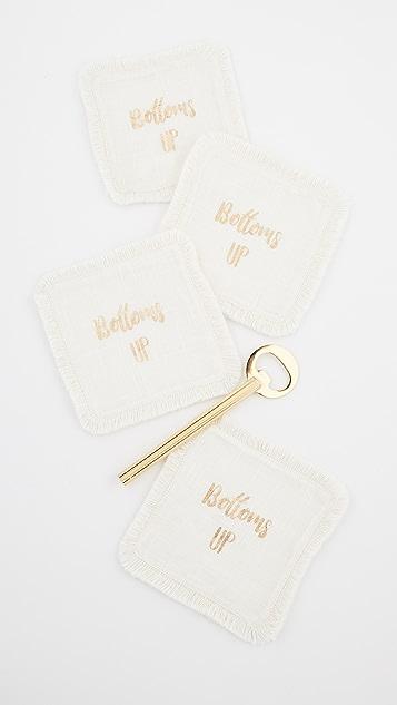 Gift Boutique Bottoms Up Coaster & Bottle Opener Gift Set