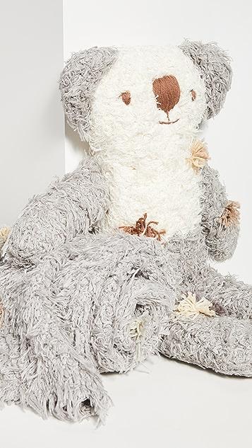 礼物精品馆 儿童巴拉巴拉毛绒考拉熊和毯子套装