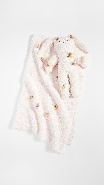 礼物精品馆 儿童巴拉巴拉毛绒兔子和毯子套装