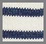 白色/靛蓝条纹