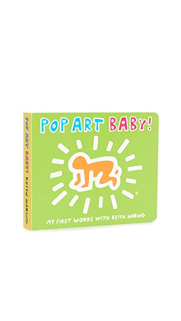 礼品精品店 Mudpuppy Keith Haring Pop Art Baby!(《Mudpuppy 凯斯·哈林流行艺术婴儿书》) 书籍