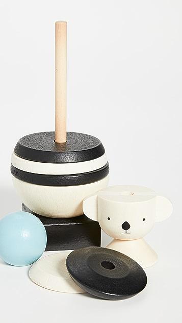 Gift Boutique Детская деревянная пирамидка в виде коалы OYOY