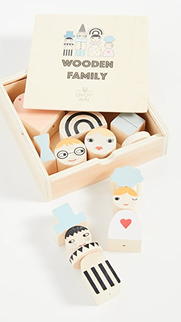 Gift Boutique OYOY Kid's Wooden Family Bricks