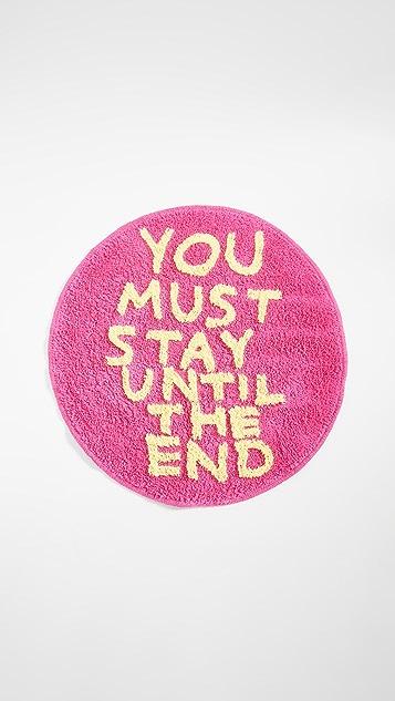 Gift Boutique Пушистый коврик для пола David Shrigley You Must Stay