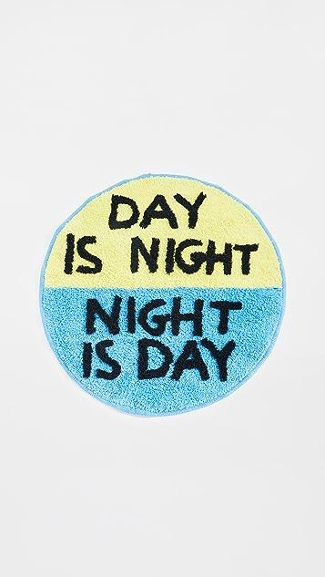 礼物精品馆 David Shrigley Day is Night Shaggy 地垫