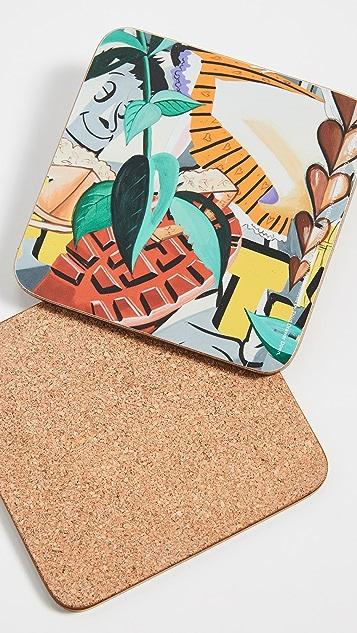 Gift Boutique David Salle Coaster Set