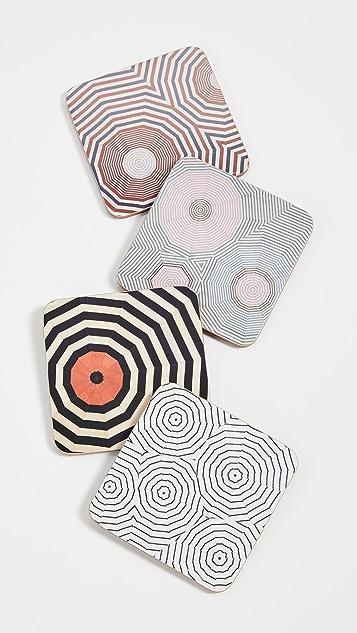 礼品精品店 Louise Bourgeois 织物杯垫套装