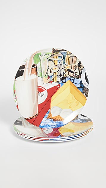 Gift Boutique David Salle Yellow Fellow Plates