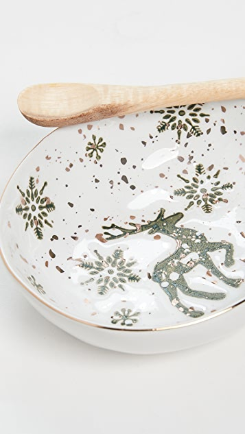 Gift Boutique Tis' The Season Gold Accent Dish