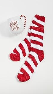 Gift Boutique 节日快乐马克杯和柺杖糖条纹袜子套装