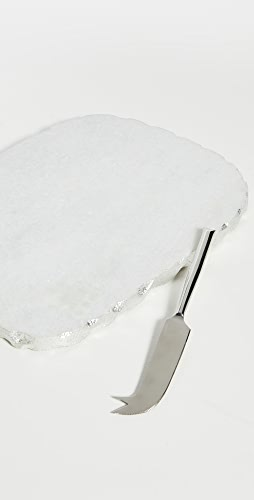 Gift Boutique - White Marble Cheese Set