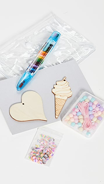 Gift Boutique DIY Kids Draw On Necklace Set