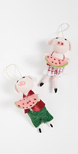 Gift Boutique - Watermelon Pig Ornaments