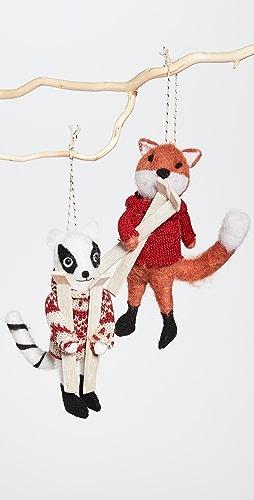 Gift Boutique - 护理和浣熊装饰两件套