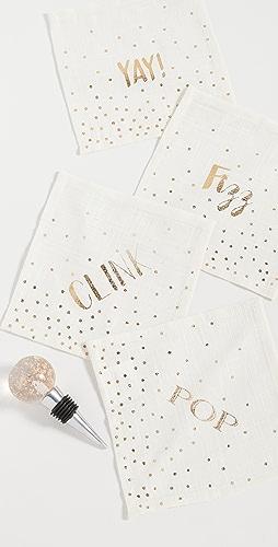 Gift Boutique - 鸡尾酒餐巾纸四件套