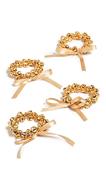 Gift Boutique Set of 4 Jingle Bells Napkin Rings