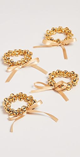 Gift Boutique - Set of 4 Jingle Bells Napkin Rings