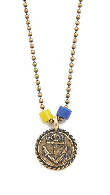 Giles & Brother Anchor Charm Ballchain Necklace