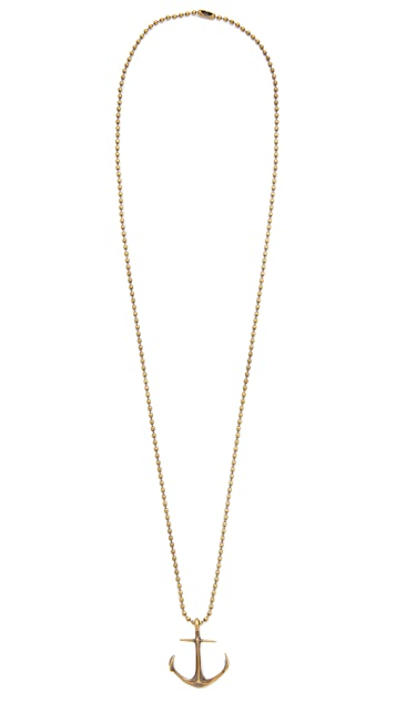 Giles & Brother Anchor Ballchain Necklace