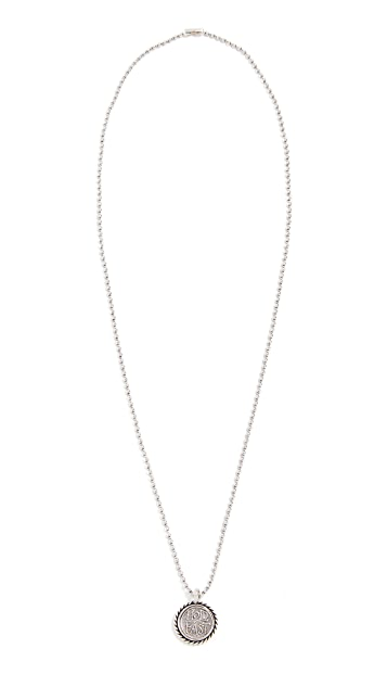 Giles & Brother Ball Chain Necklace with Anchor Charm
