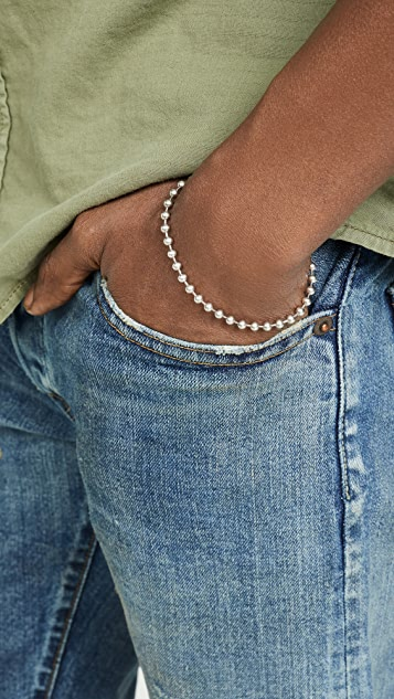 Giles & Brother Sterling Silver Ball Chain Bracelet