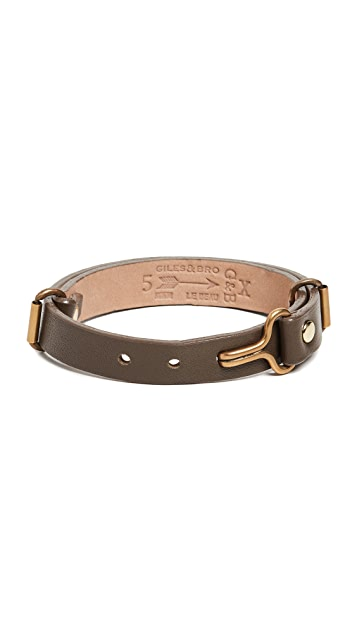 Giles & Brother Leather Visor Cuff Bracelet