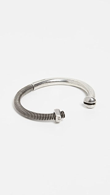 Giles & Brother Skinny Nut and Bolt Cuff Bracelet