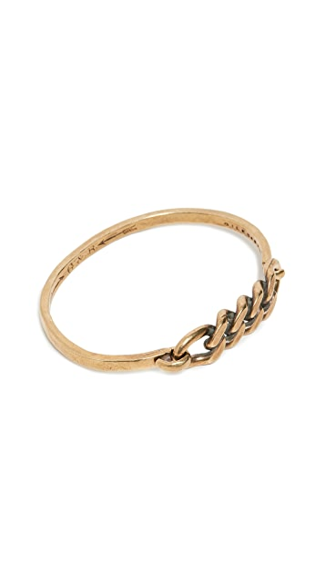 Giles & Brother Hinge Cuff with Chain