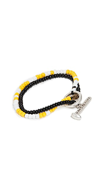 Giles & Brother Beaded Railroad Spike Wrap Bracelet