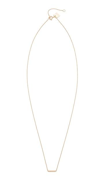ginette_ny 18k Rose Gold Strip Necklace