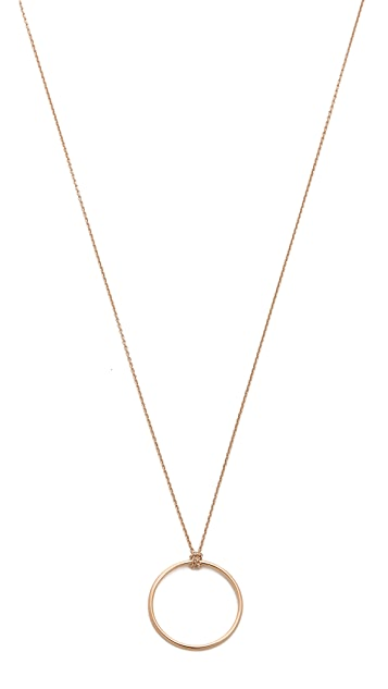 ginette_ny 18k Gold Mini Circle Necklace