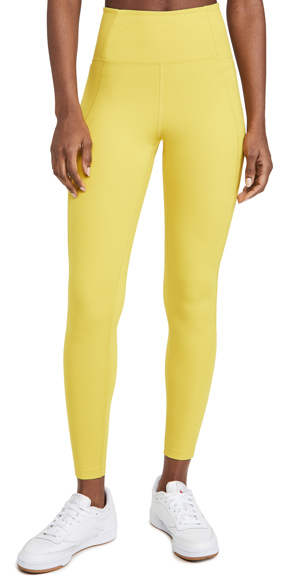 Girlfriend Collective Lemon Compressive High-rise Legging In Chartreuse