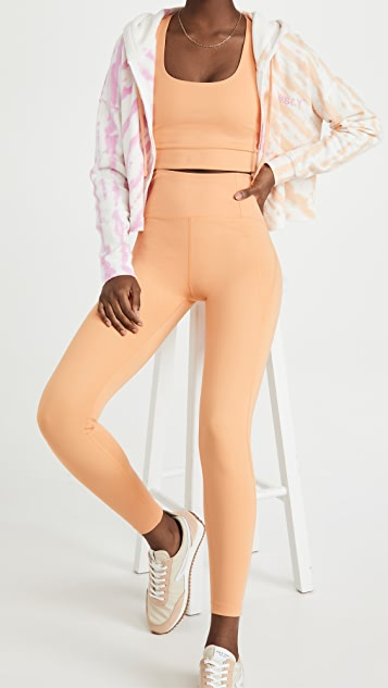 Girlfriend Collective 高腰紧密贴腿裤