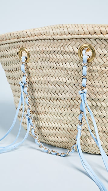 Giselle Rose Straw Tote