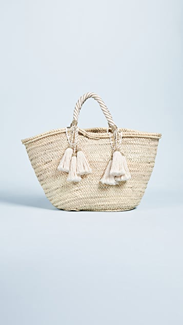 Giselle Irene Straw Tote