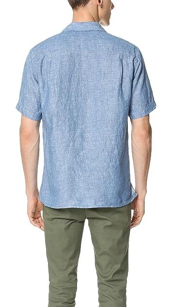 Gitman Vintage Linen Chambray Camp Shirt