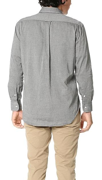 Gitman Vintage Pub Collar Japanese Flannel Mini Bone Shirt