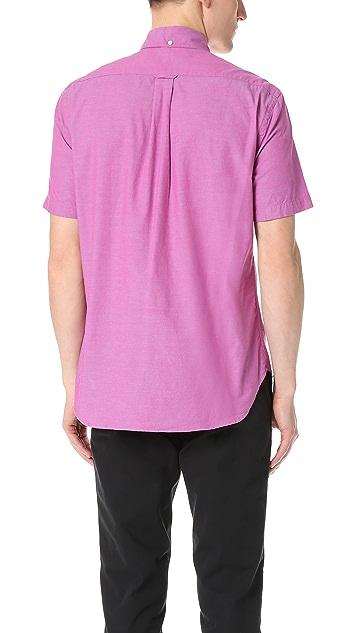 Gitman Vintage Short Sleeve Iridescent Chambray Shirt