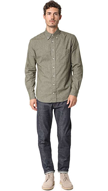 Gitman Vintage Long Sleeve Flannel Chambray Shirt