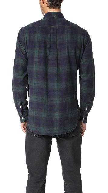 Gitman Vintage Long Sleeve Blackwatch Plaid Flannel Shirt